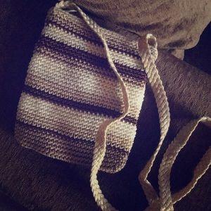 Handbags - Crochet Crossbody multi color bag